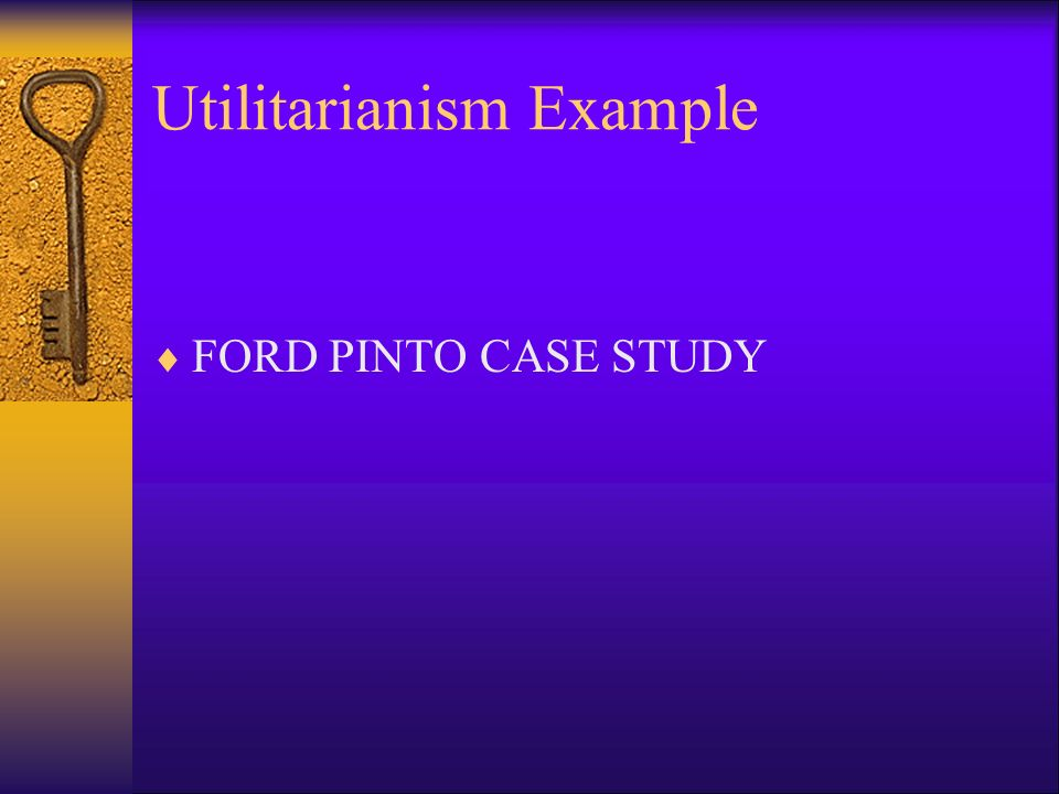 ford pinto utilitarianism