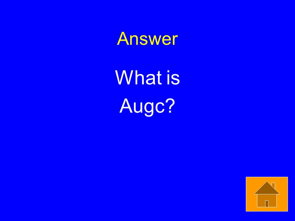 Answer What is Augc