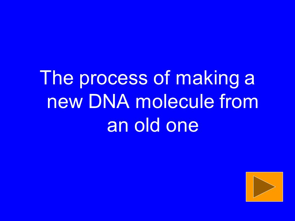 The process of making a new DNA molecule from an old one