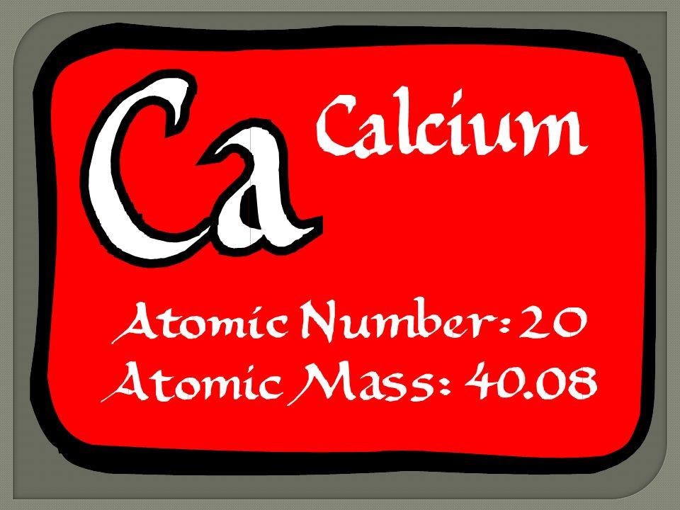 By Nathaniel Byrd Element Symbolca Element Namecalcium