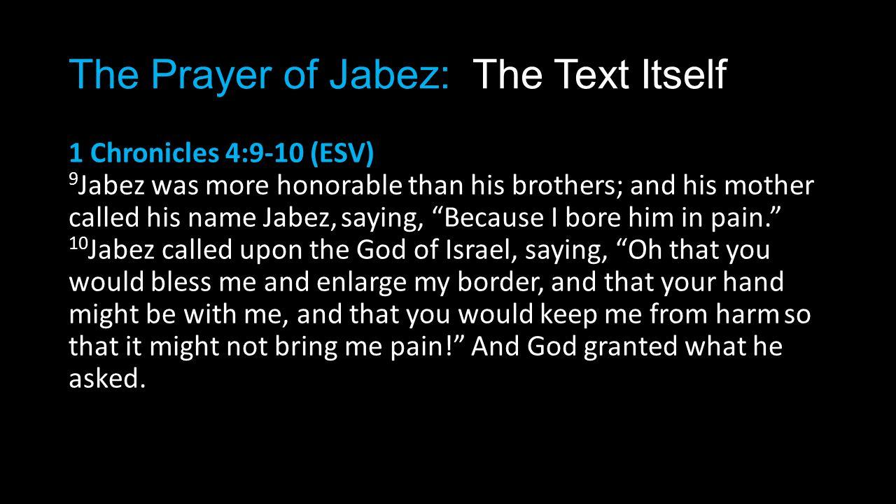23 The Prayer of Jabez: ...