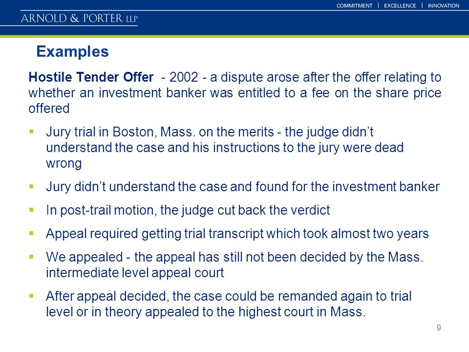 Means Of Settlement In Ma Transactions Does Arbitration Have
