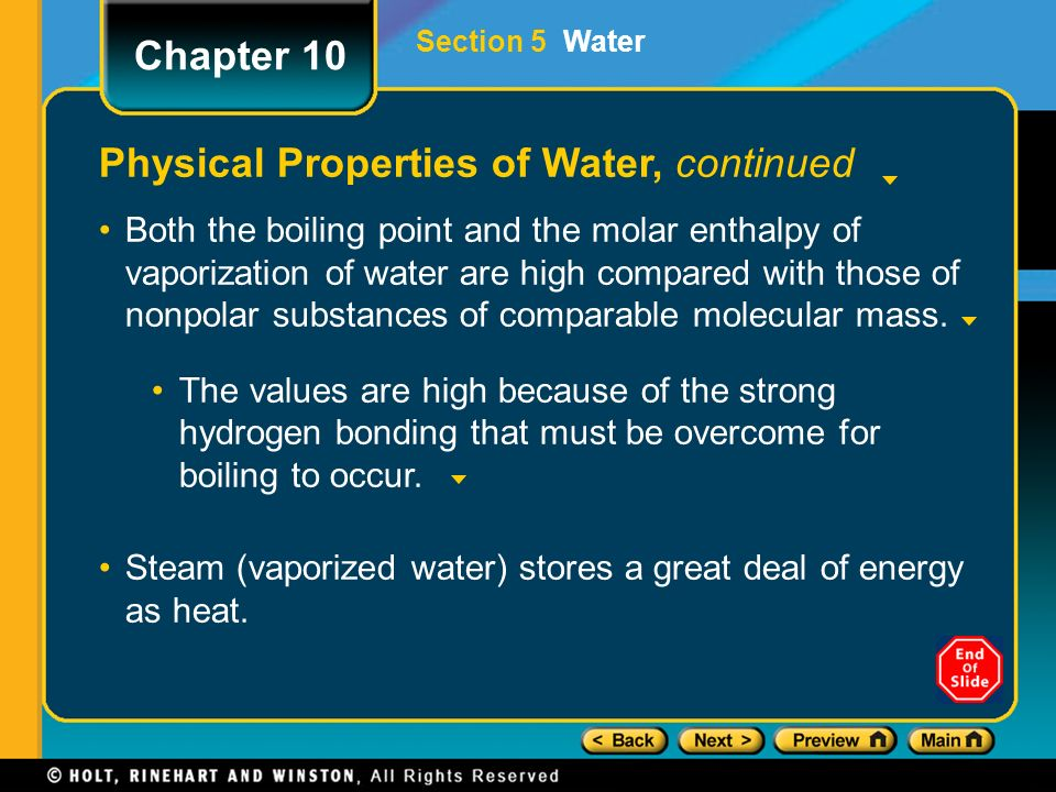 10 physical properties