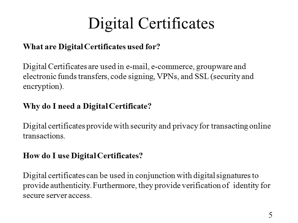1 Dcs 835 Computer Networking And The Internet Digital Certificate