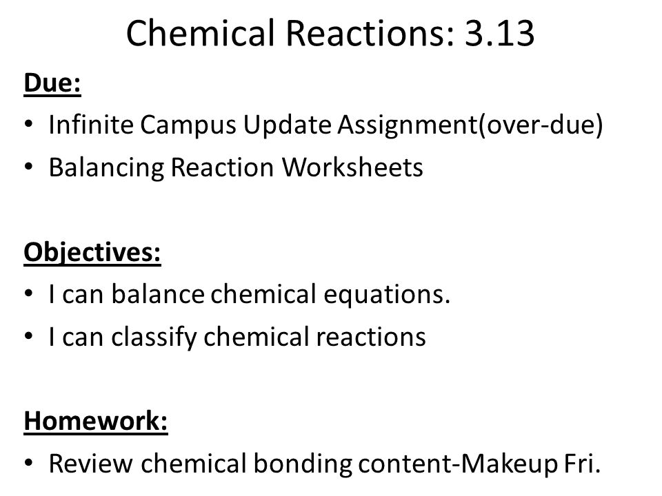 Printable Worksheets chemical reaction worksheets : Law of Conservation of Mass. Chemical Reactions. - ppt download