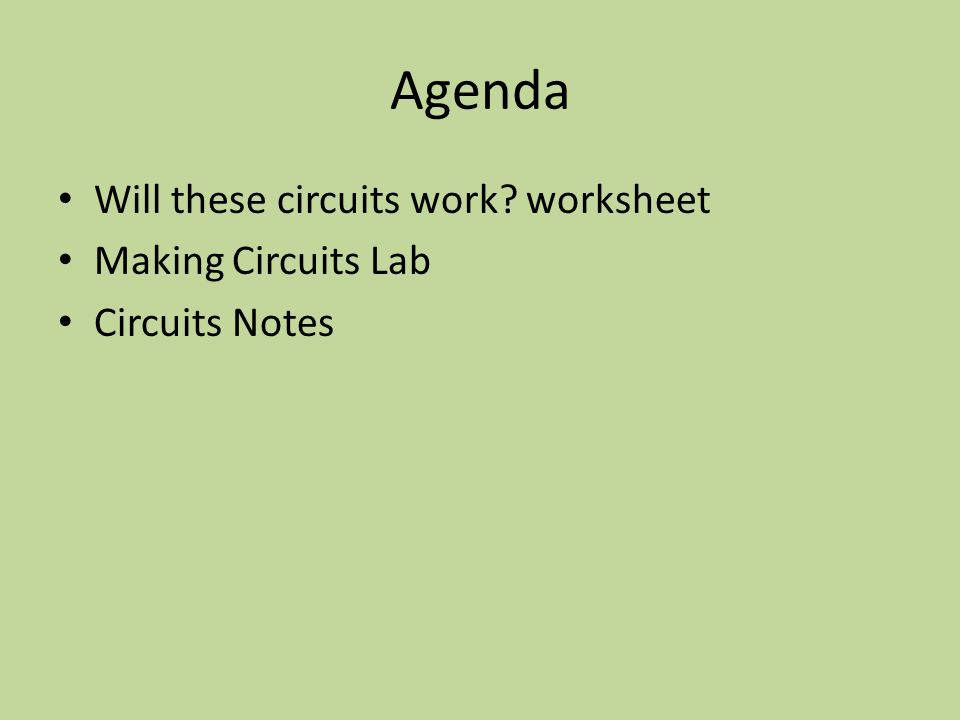 Icpphysics 5813 And 5913 Making Circuits Warmup Wednesday 1. 3 Agenda Will These Circuits Work Worksheet Making. Worksheet. Physics Worksheet Creator At Clickcart.co