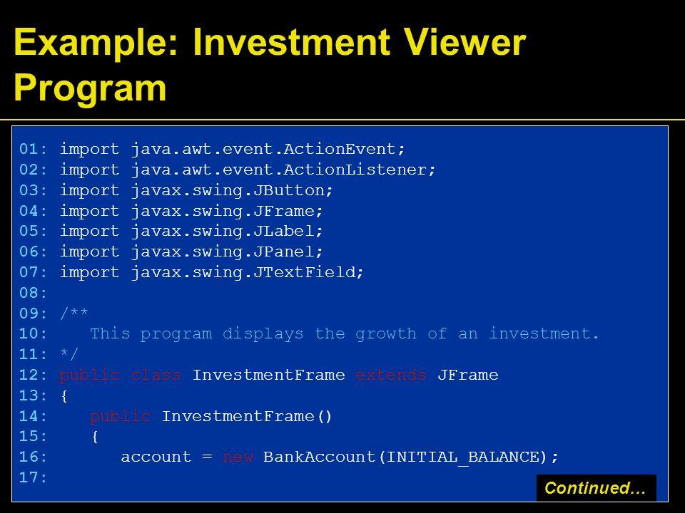 bank account program in java using swing