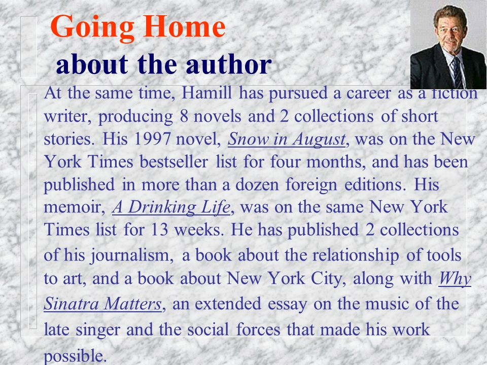 Sep  03 Lesson Two Going Home By Pete Hamill  Going Home Pete Hamill