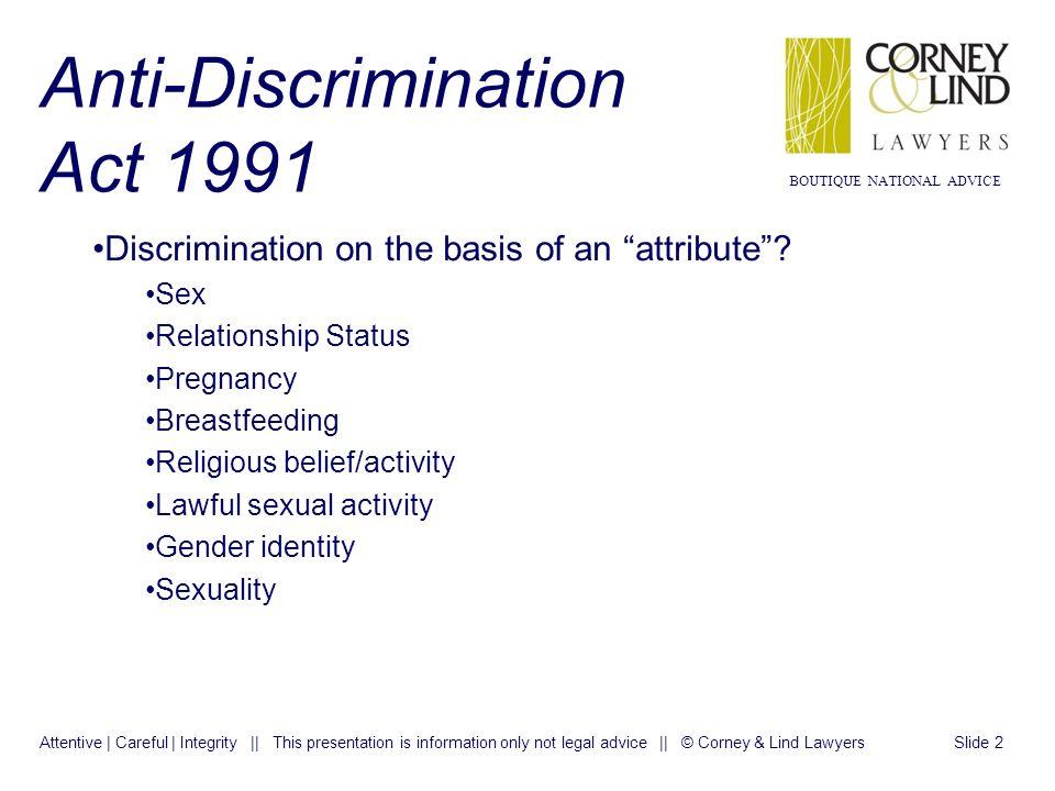 Anti discrimination act sexuality