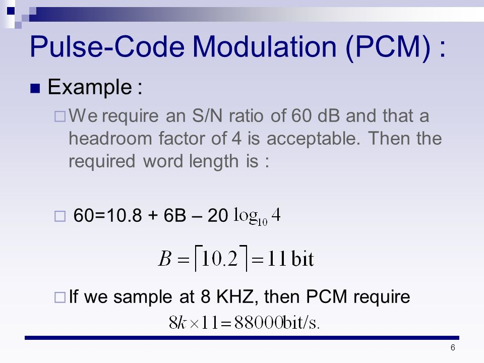 pulse code modulation example