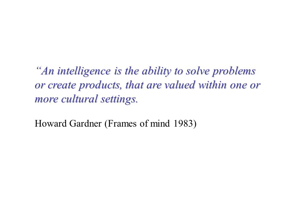ability to solve problems