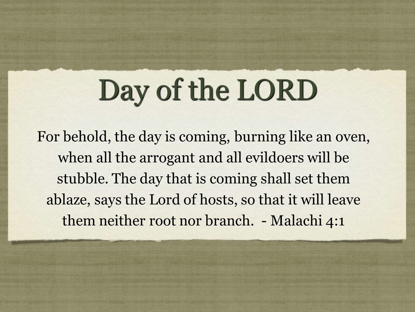 the day is coming when