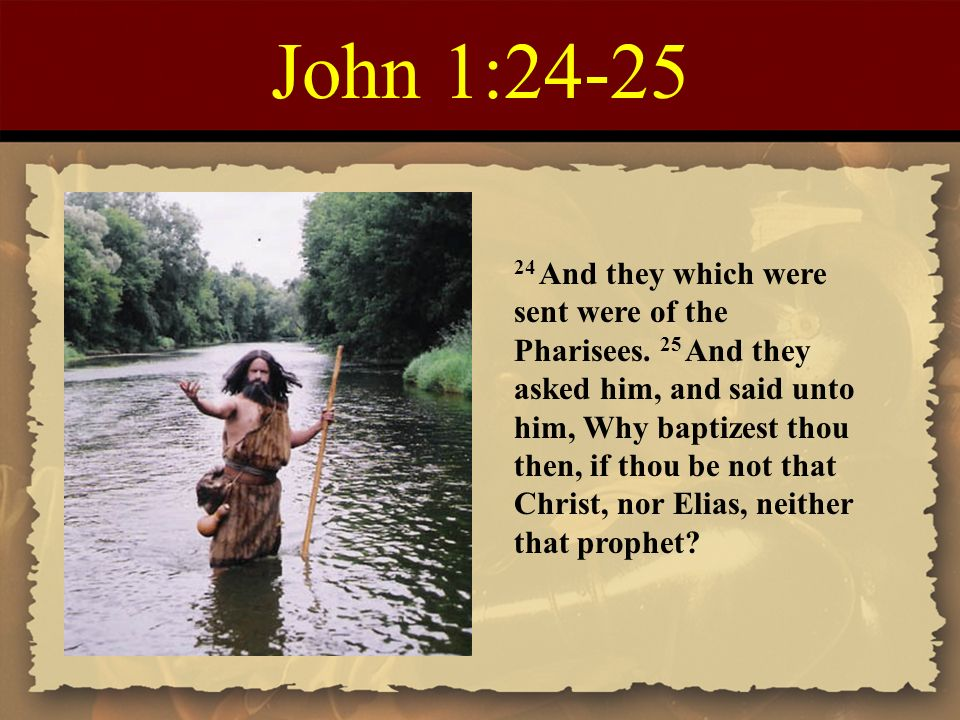 Image result for John 1:24-25