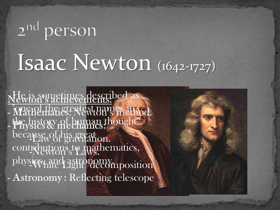 isaac newton contribution
