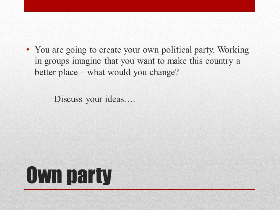 Mock Election Create Your Own Party Introduction One Of The Ways