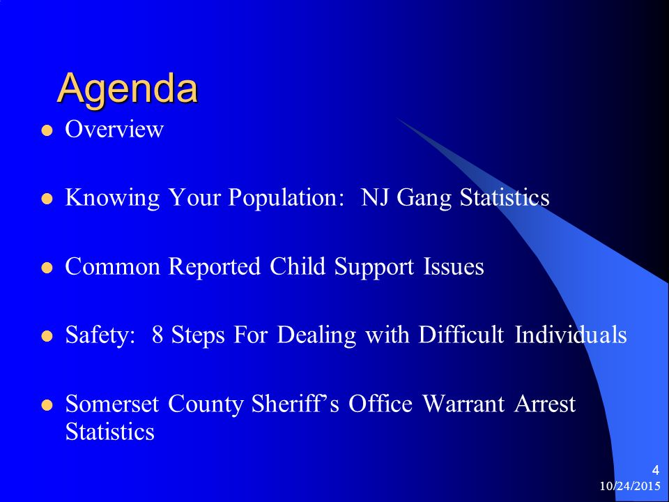 10/24/ Somerset County Sheriff's Office Personal Safety Tips