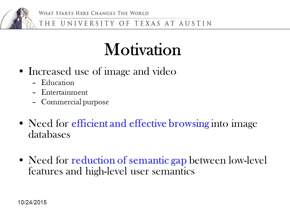 10/24/2015 Content-Based Image Retrieval: Feature Extraction