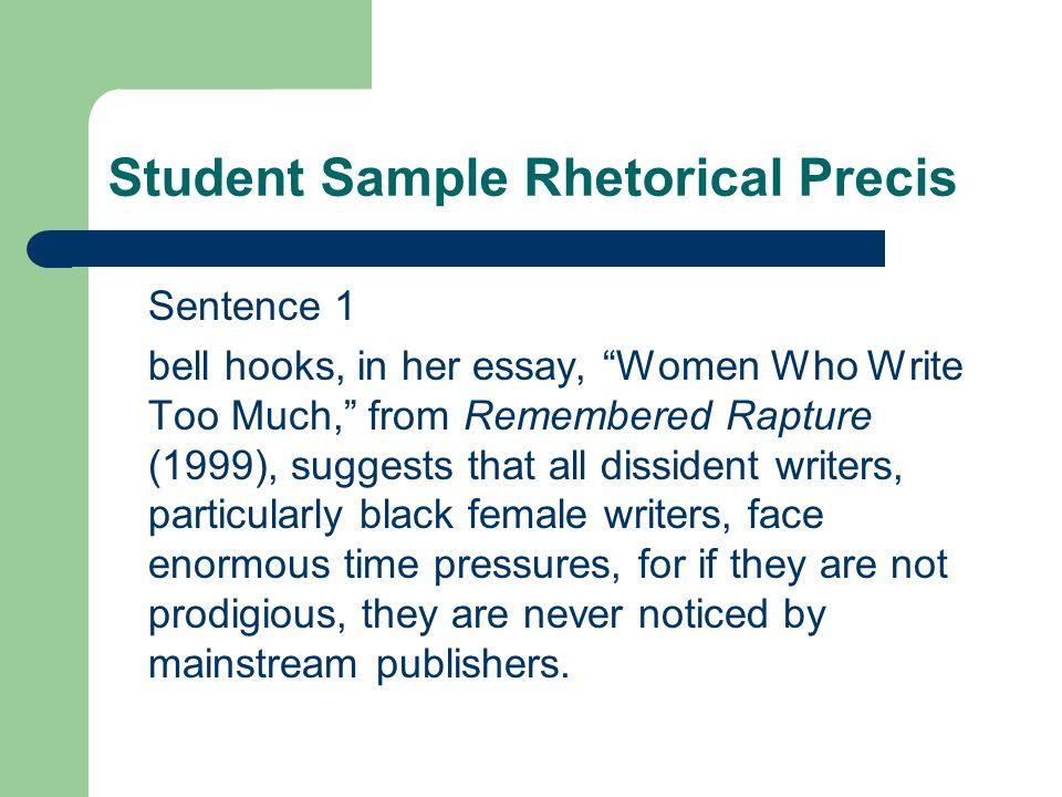 8 Student Sample Rhetorical Precis