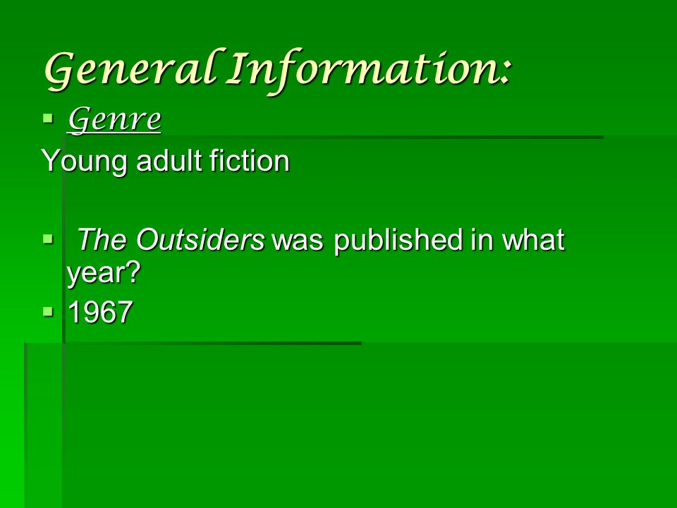 the outsiders plot line