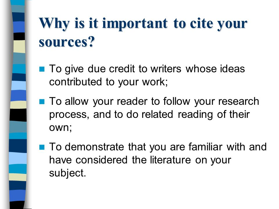 References Bibliography For The IB Extended Essay 2 Why