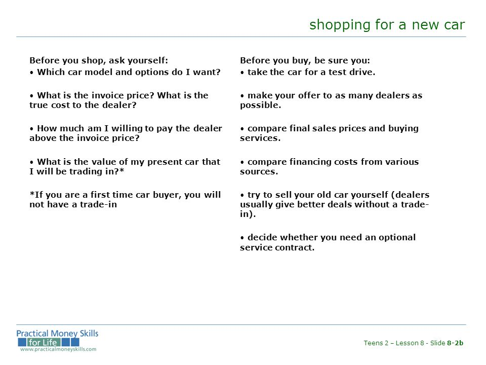 Cerbone Unit Eight Cars And Loans The Costs Of Owning And Operating - True price cars invoice