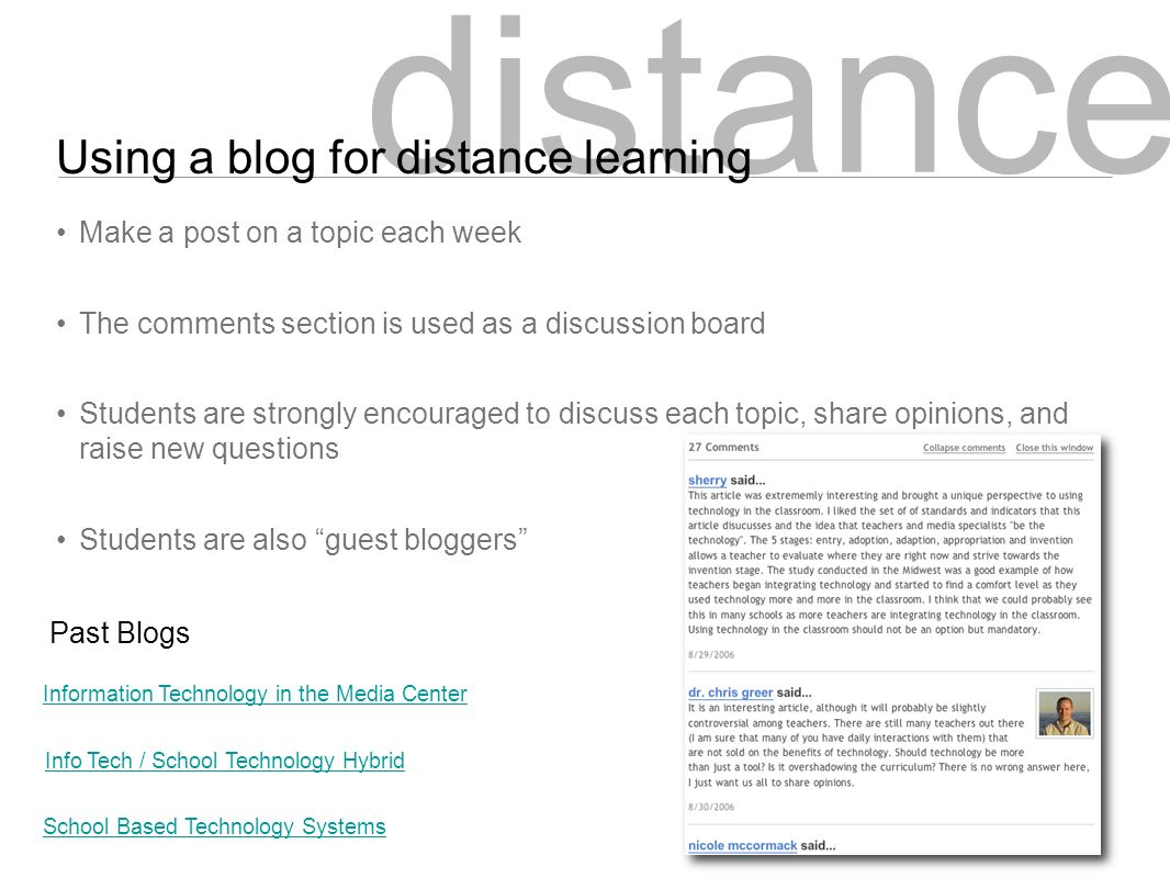 New Media in Education Blogs & Wikis for Interactive