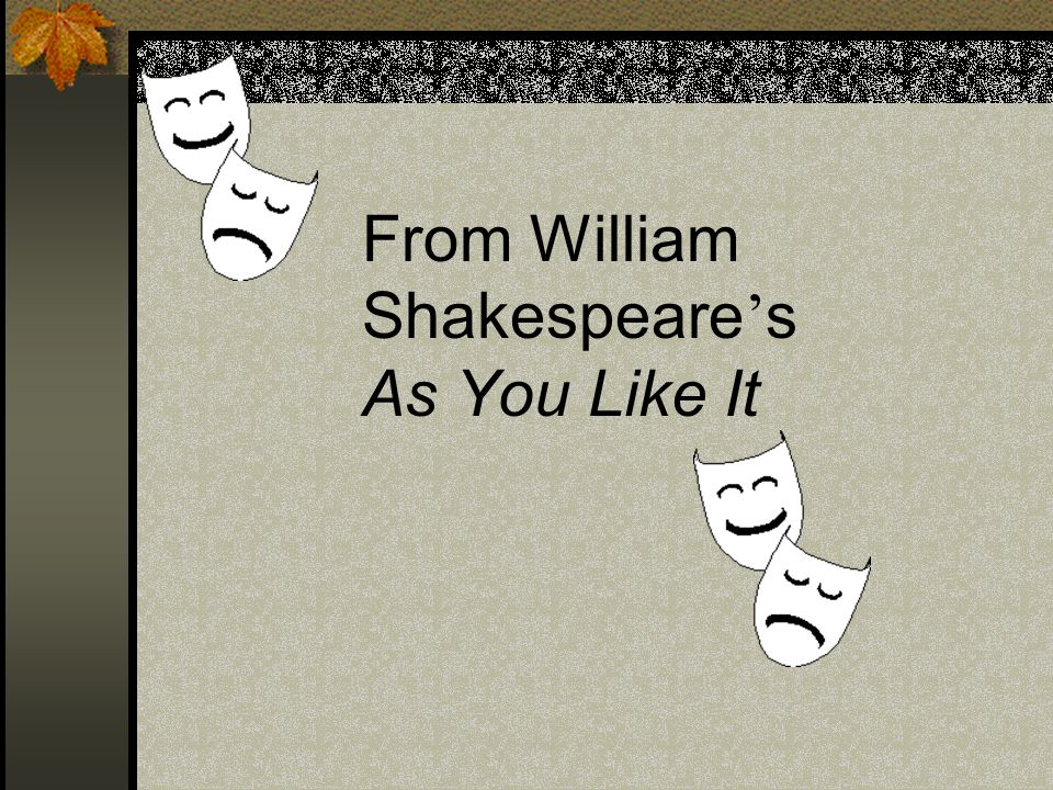 themes of as you like it by william shakespeare