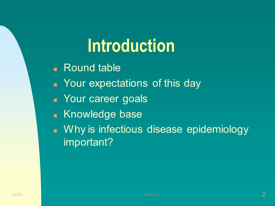 Infectious Disease Epidemiology, Module I Introduction
