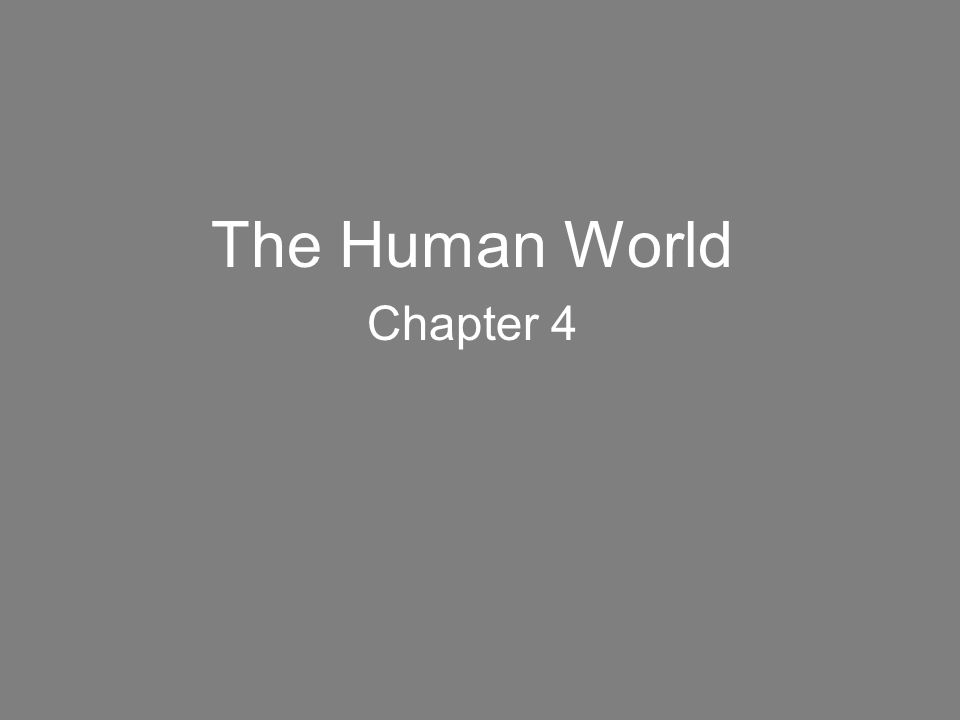 The Human World Chapter 4