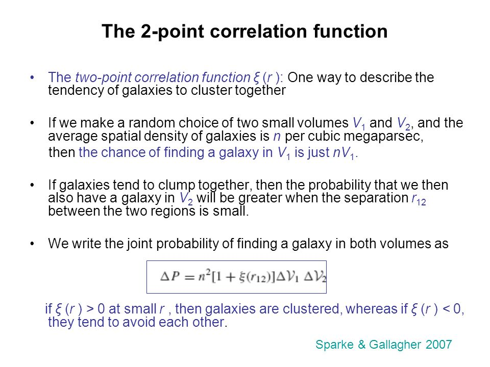 Galaxy clustering II 2-point correlation function 5 Feb ppt