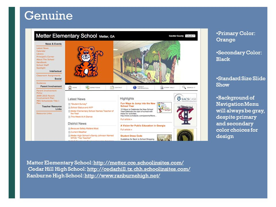 School Template Choices Preparing for your new School Website with ...
