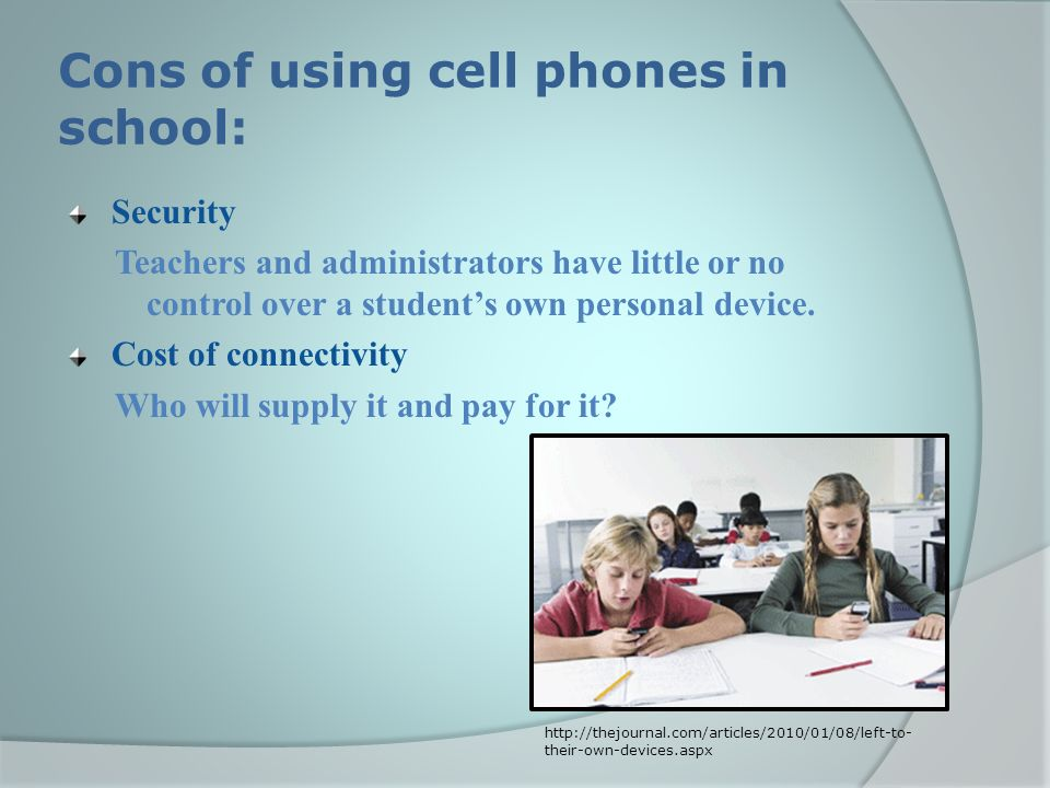 essay about using cell phone in school Cell phones are perhaps the single most ubiquitous technological item for the average person while they serve the purpose of connecting us to each other in vast social networks, the question must be raised as to the overall impact of cell phones.