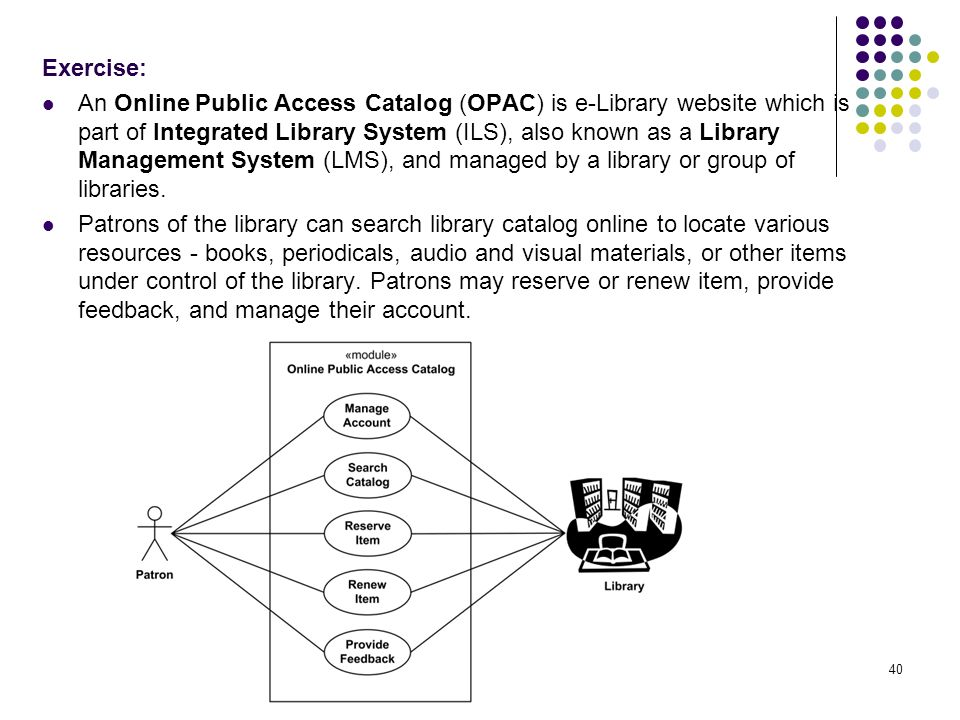 use case for library management