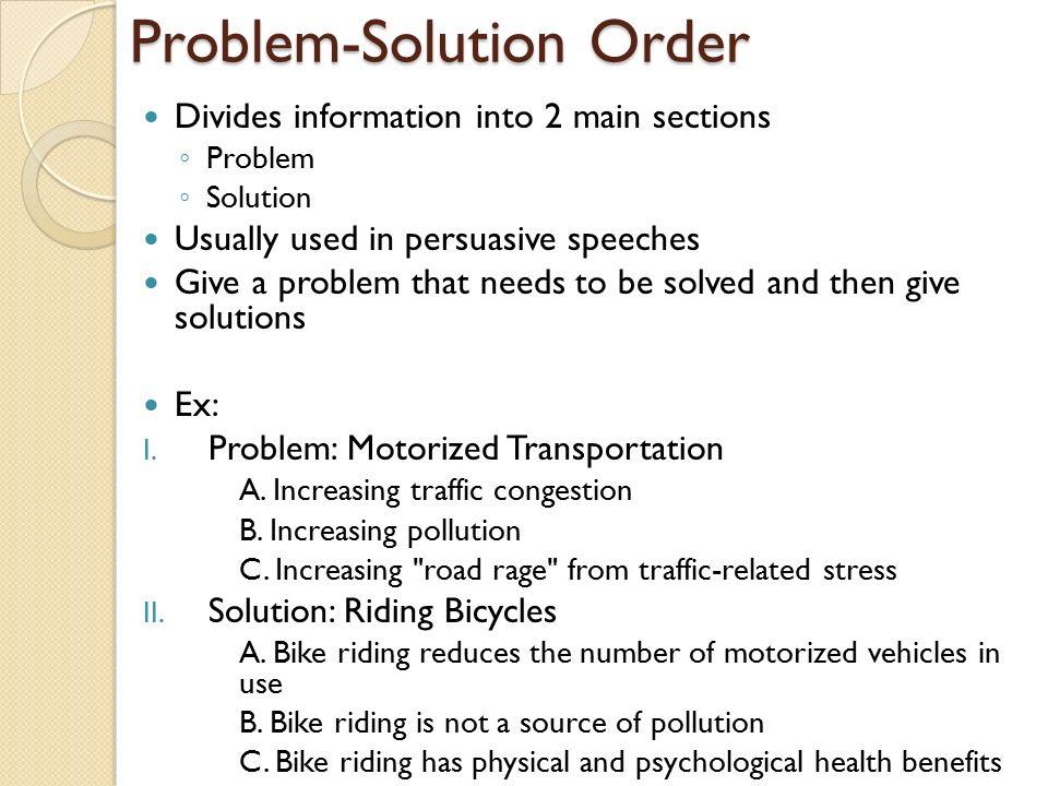 problem solution persuasive speech