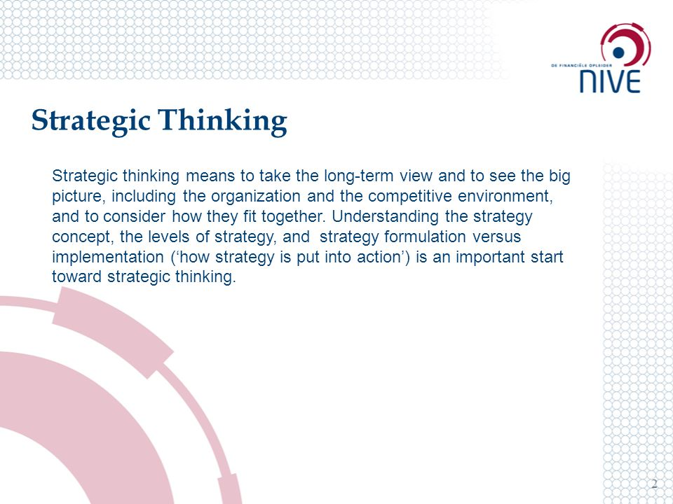 strategy formulation meaning