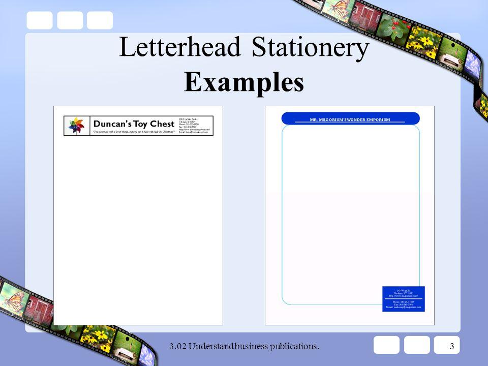 desktop publishing notes letterhead stationery understand business