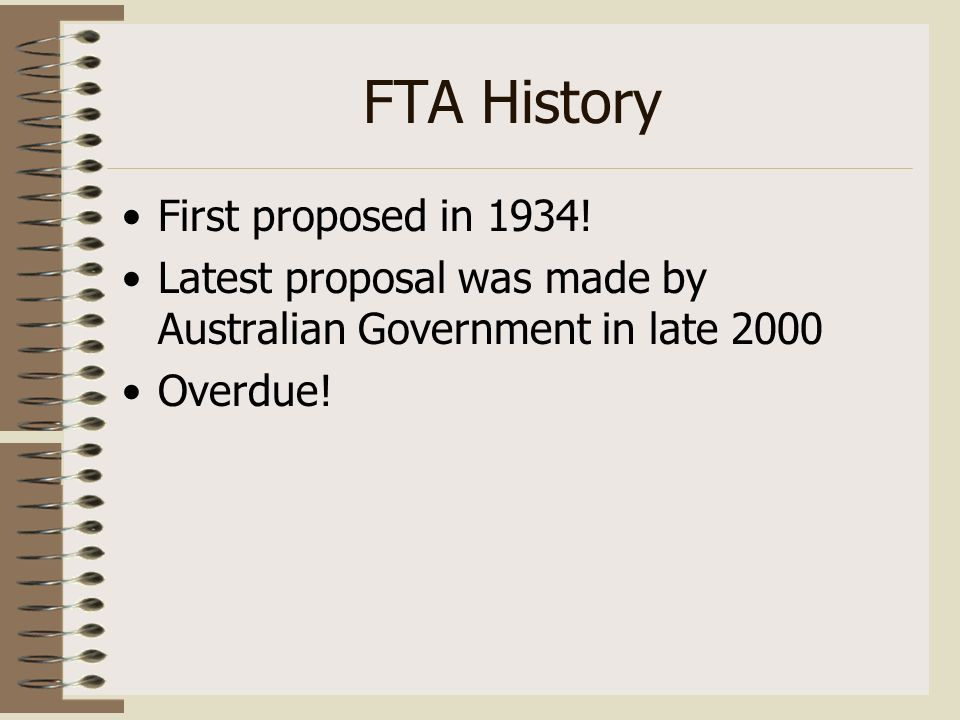 Us Australia Free Trade Agreement Launched In November 2002 Most