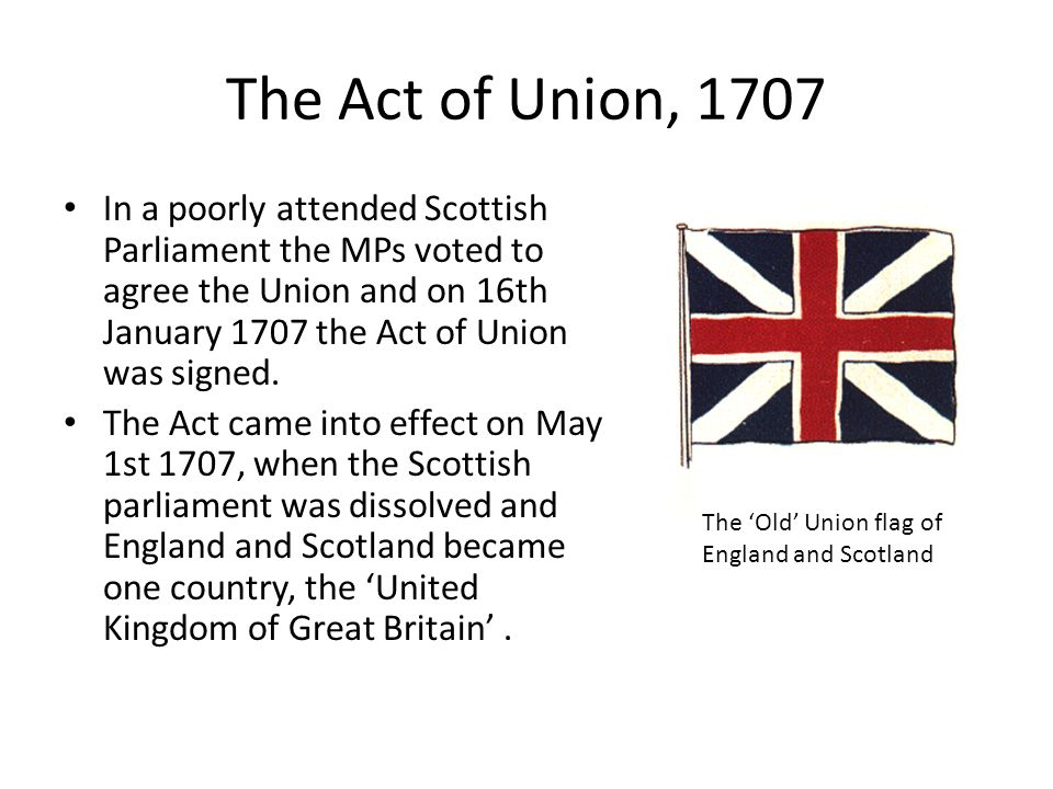 How did England and Scotland become the 'United Kingdom'? - ppt download