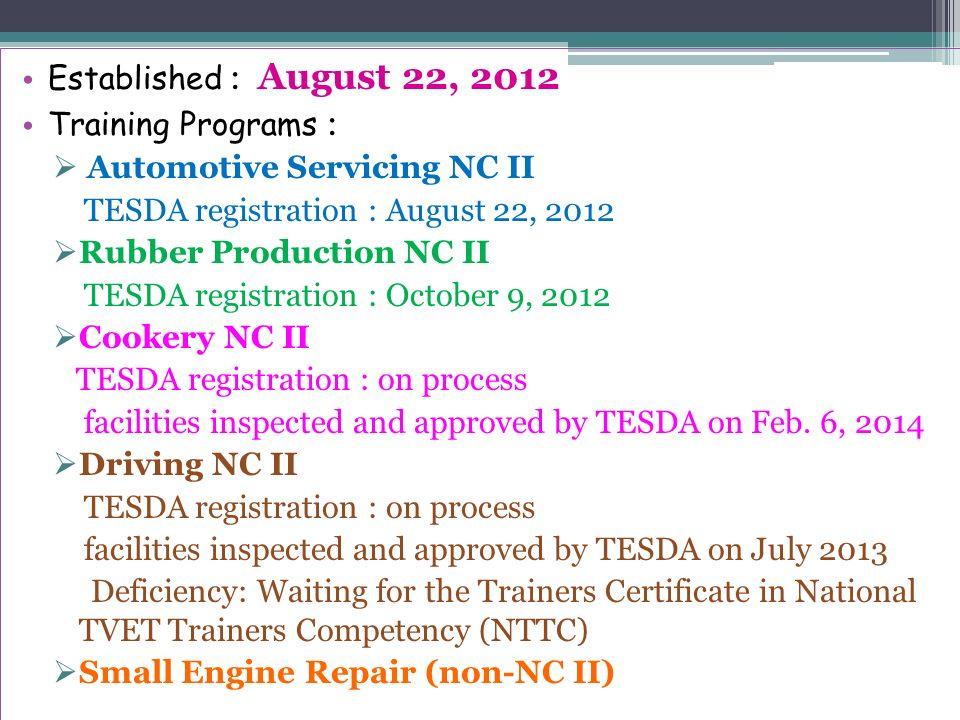 Makilala Vocational Technical Skills Training Center Ppt Download