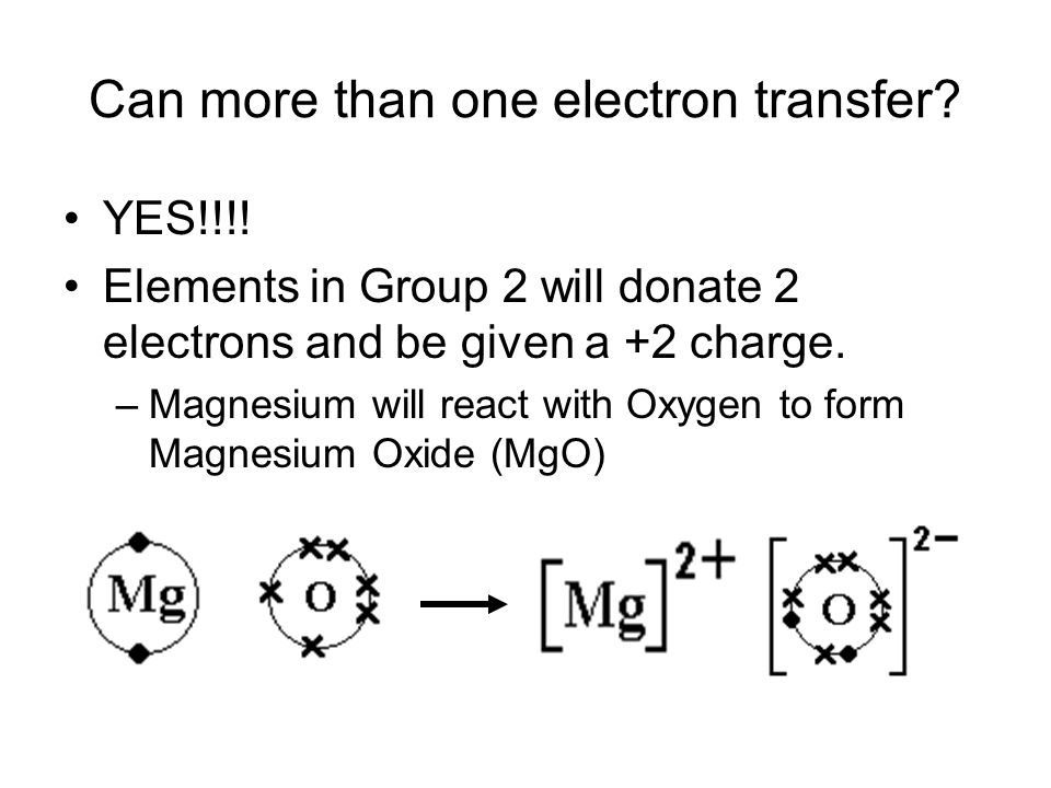 Can more than one electron transfer. YES!!!.