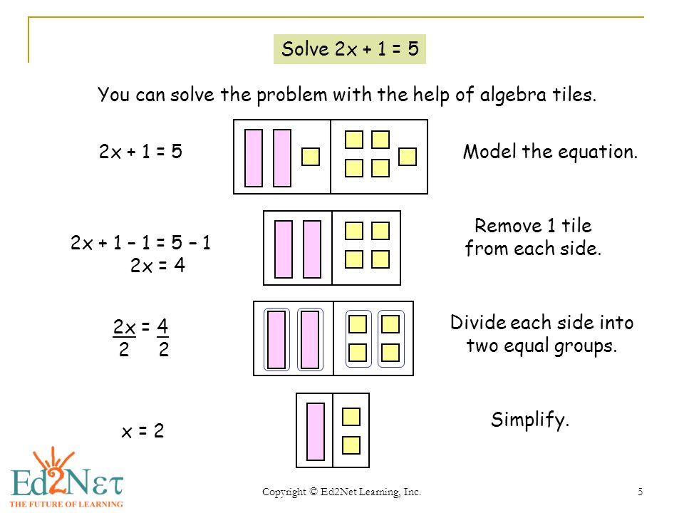 Algebra Tiles Worksheets - Checks Worksheet
