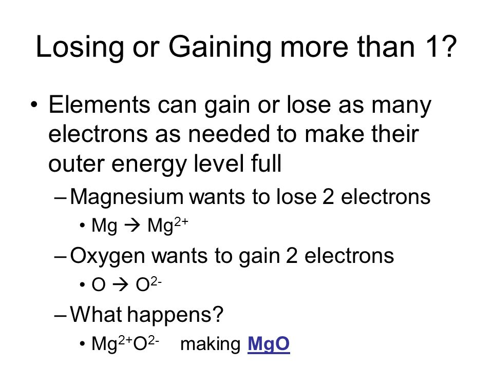 Losing or Gaining more than 1.