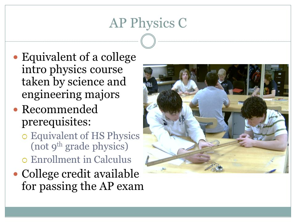 OFFERED AT WEBER HIGH SCHOOL Science Courses  Why take