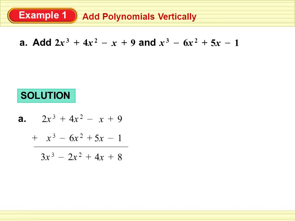 3.1 Adding, Subtracting and Multiplying Polynomials 11/26 ...