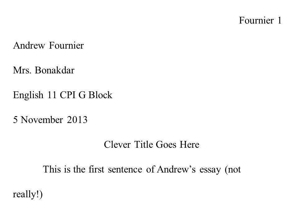 Conscience Essay  Fournier  Locavores Synthesis Essay also Essays On Health Fournier  Andrew Fournier Mrs Bonakdar English  Cpi G Block   Essay On Modern Science