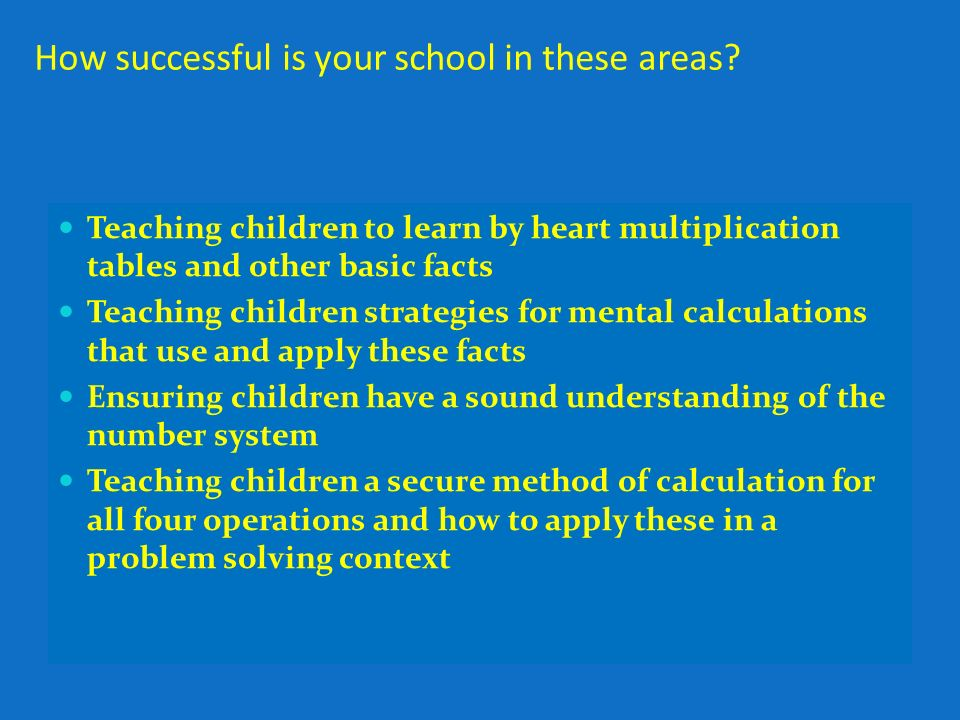 Education Bradford Primary Maths Team Aims Strategies That Are