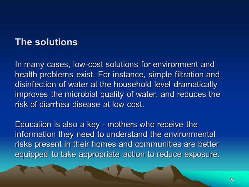 environmental health problems and solutions