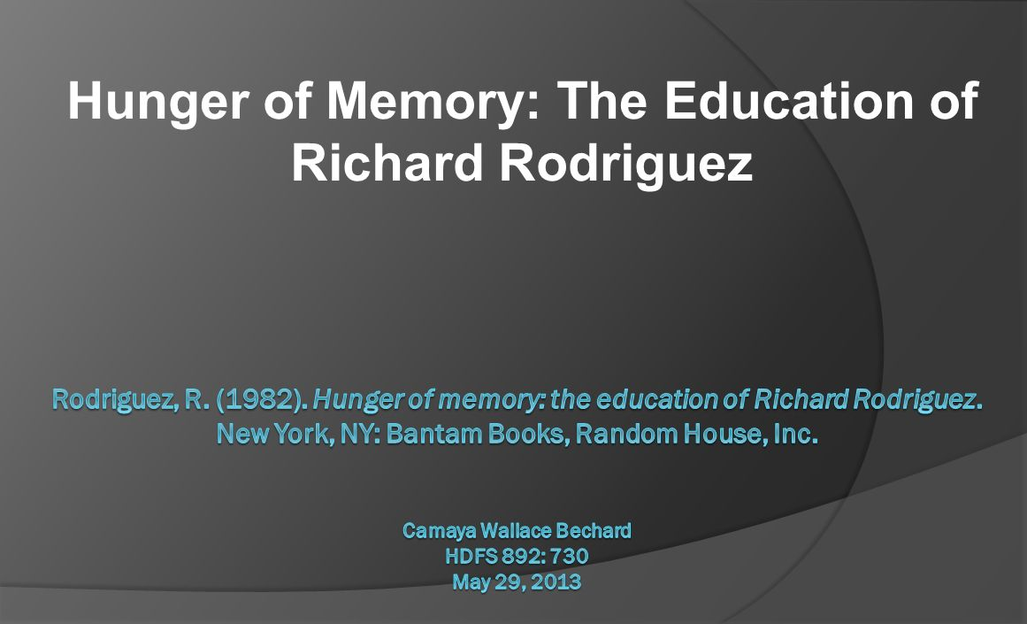 richard rodriguez scholarship boy