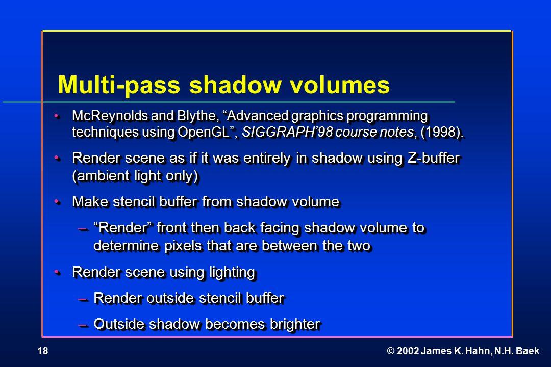 Multi-pass Rendering  © 2002 James K  Hahn, N H  Baek2 Multi-pass
