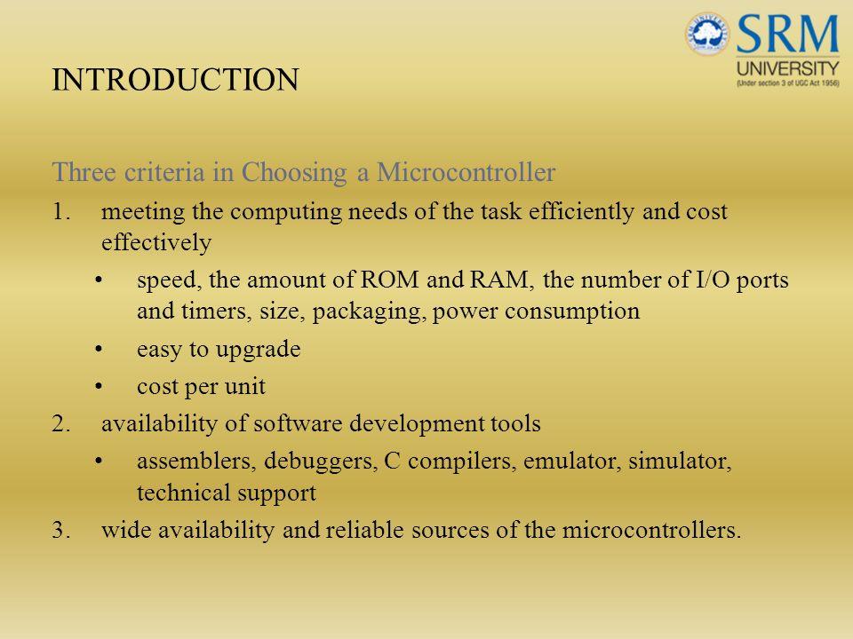 Unit V Microcontroller 8051 Introduction Architecture
